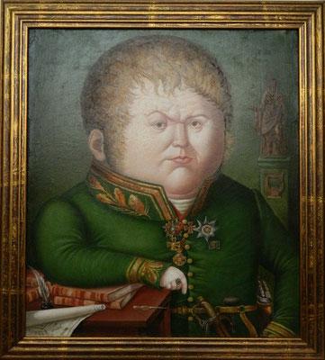 Рамиль Хабибуллин.      Портрет Солнцева.    2007 г.    Холст. масло.    44х37 см.