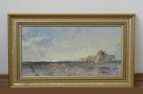 Артем Белостоцкий.     Светлые дали.    2006 г.   Холст, масло.    30х60 см.