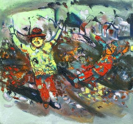 Владимир Фрумусаки.        Хорошее настроение.   2012 г.      Холст, масло.      44х48 см.