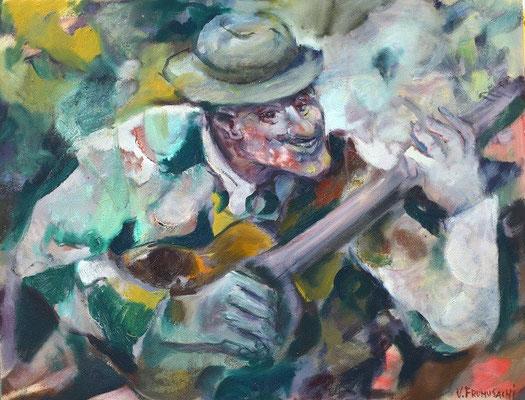 Владимир Фрумусаки.      Какой аккорд!     2011 г.    Холст, масло.       87х67 см.