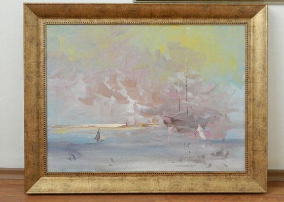 Артем Белостоцкий.    Сошествие облака.    2006 г. Холст, масло.    60х80 см.
