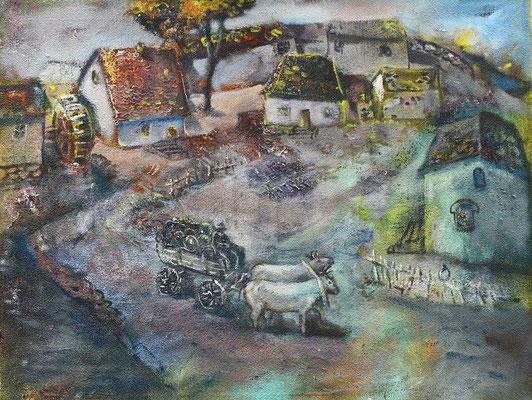 Владимир Фрумусаки.       Прекрасный пейзаж.      2006 г.     Холст, масло.     80х70 см.