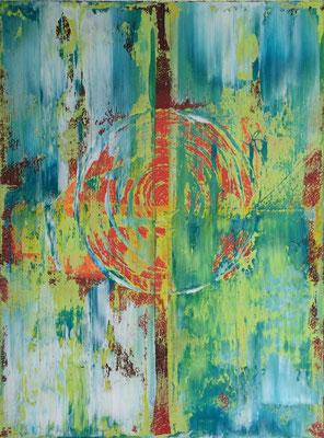 Sicherer innerer Ort, Acryl Mischtechnik, 2015