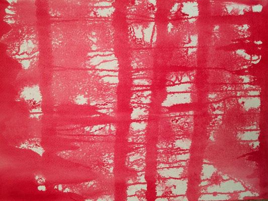 Studie in Rot II. 2014, 50 x 70 cm, 275 Euro