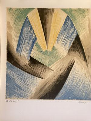 Leopold Survage rythme colorés , lithographie signée et numérotée