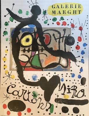 joan Miro affiche lithographique originale, Galerie Maeght, 1965, 64,5 x 48,5 cm