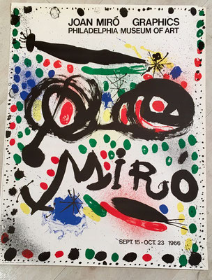 joan  Miro affiche  lithographique originale , Philadelphia Museum of Art Poster ,  1966, 64,5 x 50 cm.