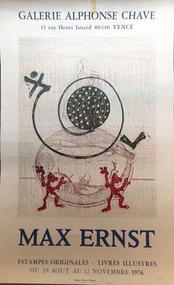Max ERNST  , affiche lithographique/ original poster lithograph, 1976, information et prix sur demande ,