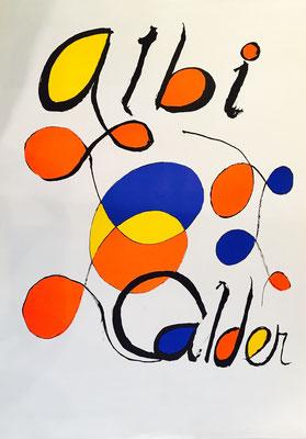 Alexandre CALDER, Lithographie en couleurs sur Arches avant la lettre pour l'affiche d'exposition Calder au musée Toulouse - Lautrec d'Albi 90,5 x 55,5 cm
