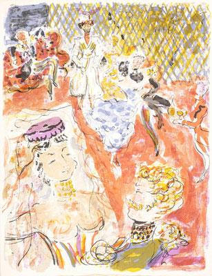 Constantin Terechkovitch- Léon Tolstoi, Hadji Mourad Léon Tolstoi Hadji Mourad Les Bibliophiles franco- suisses, Paris, 1955 En feuilles in-4 sous étui, lithographies originales de Constantin Terechkovitch tirage à 125 ex., ex. n° 84,