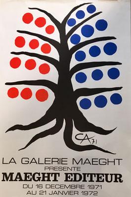 ALEXANDRE CALDER MAEGHT ÉDITEUR, affiche réalisée  en Lithographie originale, pour l´exposition des Editions Maeght à la Galerie Maeght en 1971.
