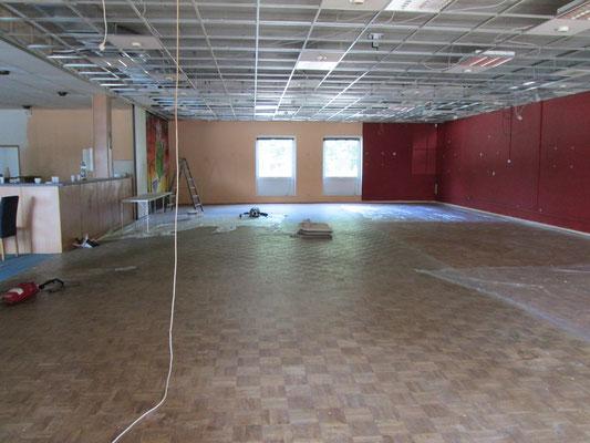 Der Saal im ursprünglichen Zustand