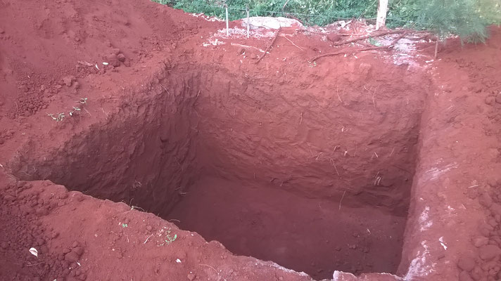 The foundation for the 10.000 ltr. tank