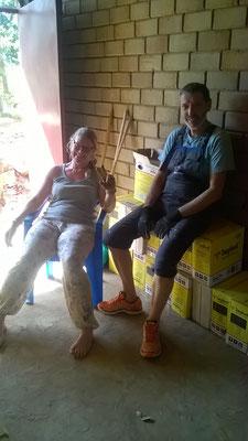 Tina und Siggi bei einer wohlverdienten Verschnaufpause...