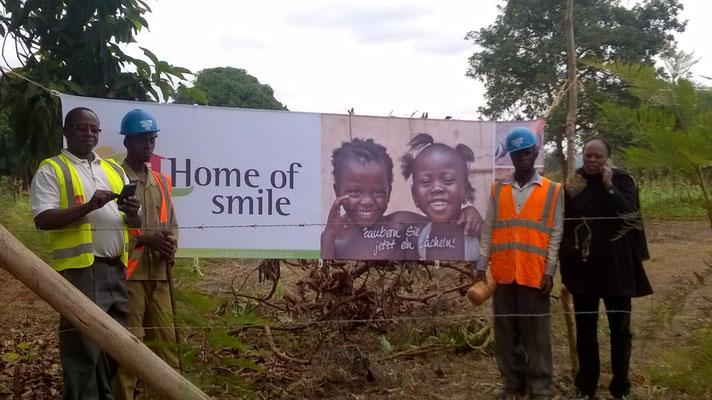 Dank der Fa. etcetera in Kastellaun, haben wir auch Banner in Kenya...