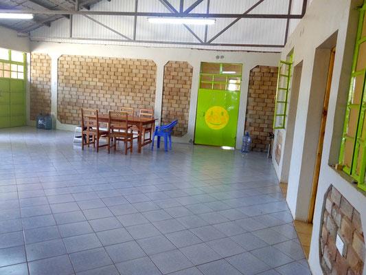 The hall...