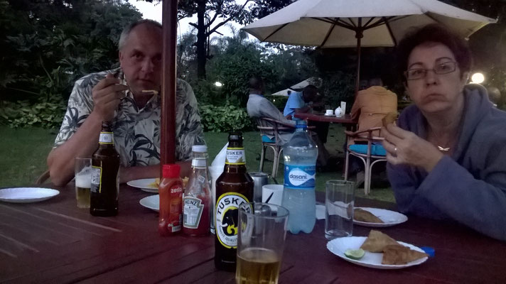 Das wohlverdiente Tusker Bier wartet...
