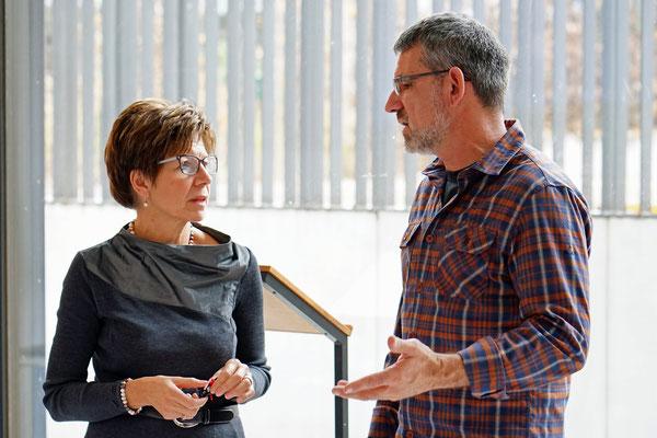 Im Gespräch mit der Rektorin der Realschule Frau Margret Fischer...
