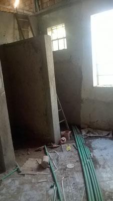 Die Baustelle Badezimmer...