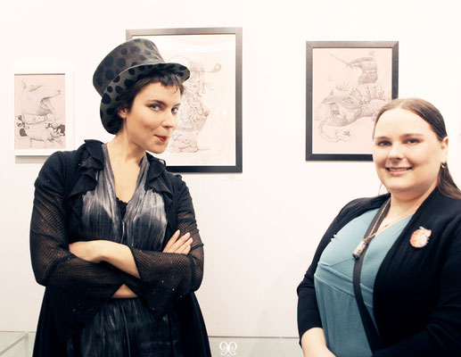 Ixie (artist and curator) with Tasha Zimich (artist and project assistant).picture by Nina Pak