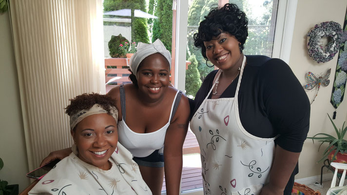 Talitha working with some beautiful bridesmaids!