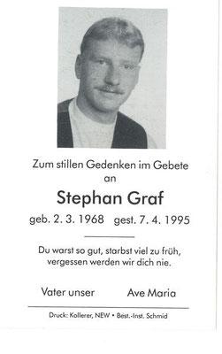 Stephan Graf, Todesanzeige