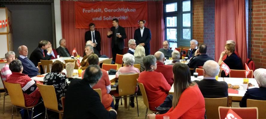 Andreas Dressel (Mitte) gemeinsam mit Michael Weinreich (Rechts) und Fred Rebensdorf (Links)