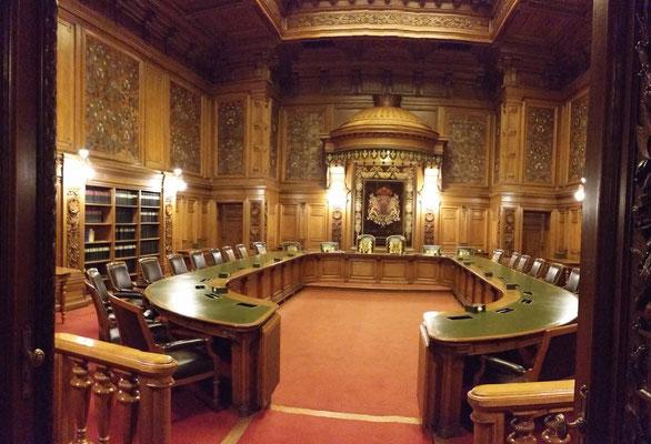Ratsstube im Senatsgehege. Tagungszimmer des Senats.