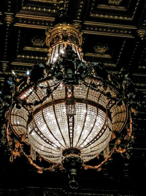 Kronleuchter im Großen Festsaal. Gewicht 1,5 Tonnen!