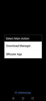 Brouter Download Manager wählen