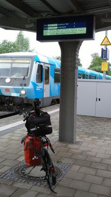 Regionalbahn in Wasserburg