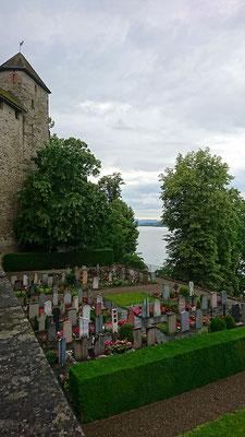 Schöner Friedhof in Rapperswil