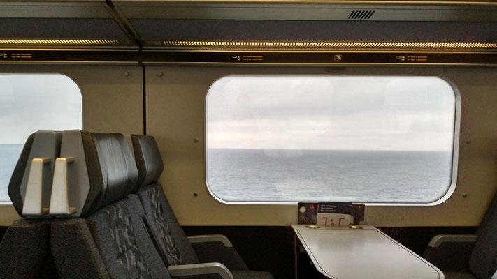 Mit dem Zug übers Wasser