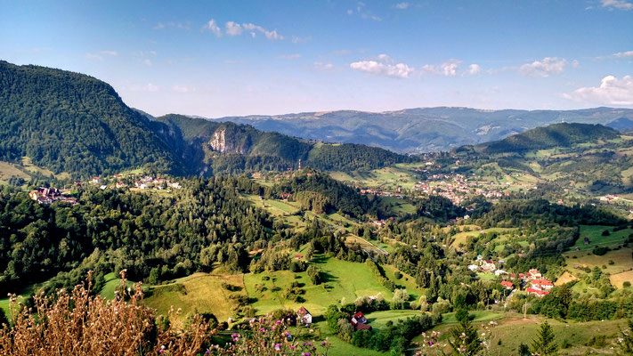 toller Ausblick auf Transsylvanien