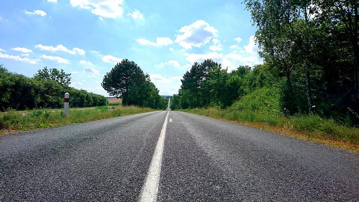 Manche Straßen gingen auch mal geradeaus, aber dann richtig.