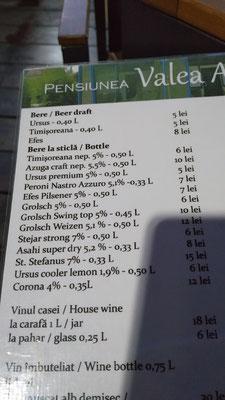 günstiges Bier (umrechnen 1:5)