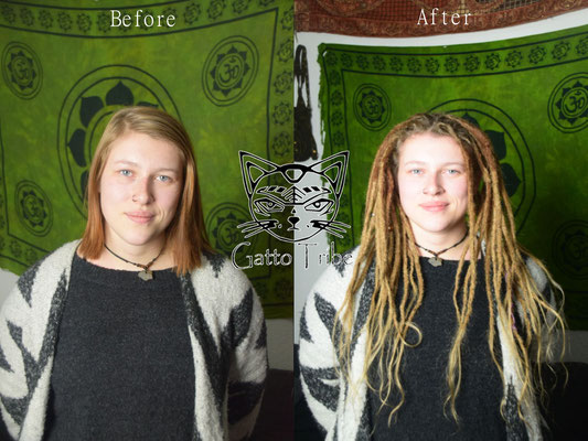 Dreaderstellung, neue Dreads in Berlin 023 (50 Dreads mit Extensions)