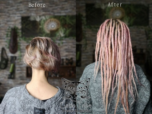 Dreaderstellung, neue Dreads in Berlin 067 ( 43 Dreads mit Extensions)
