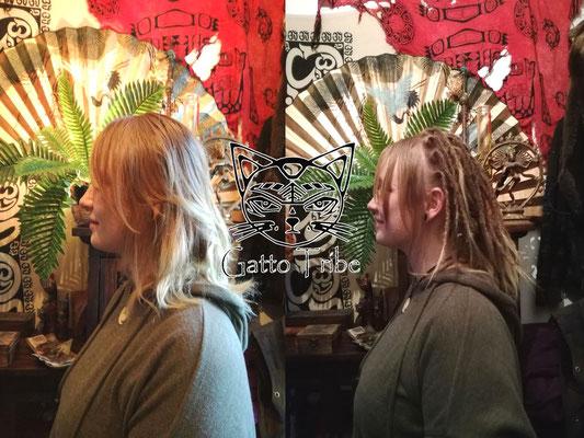 Dreaderstellung, neue Dreads in Berlin 005 (53 Dreads mit Extensions)