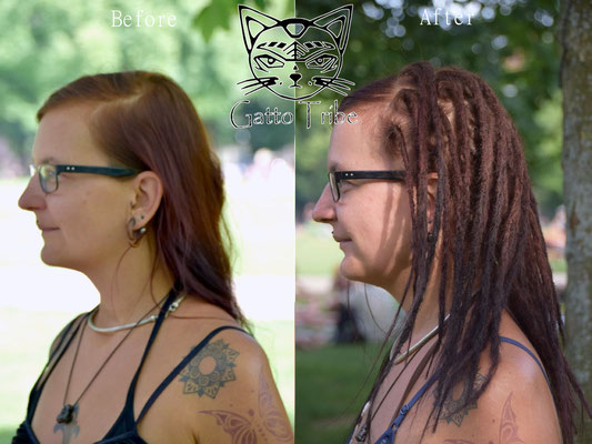 Dreaderstellung, neue Dreads in Berlin 035 (45 Dreads ohne Extensions)