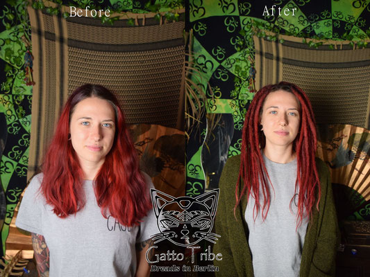 Dreaderstellung, neue Dreads in Berlin 052 ( 66 Dreads mit Extensions)