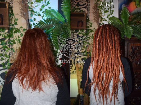 Dreaderstellung, neue Dreads in Berlin 028 (45 Dreads mit Extensions)