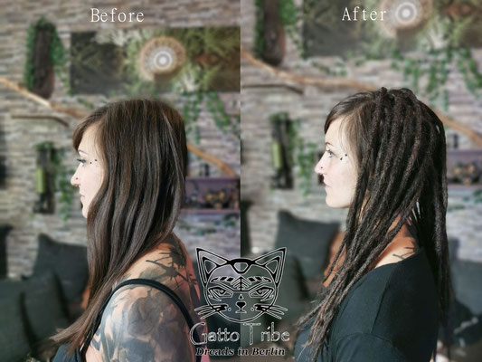 Dreaderstellung, neue Dreads in Berlin 073 ( 38 Dreads mit Extensions)