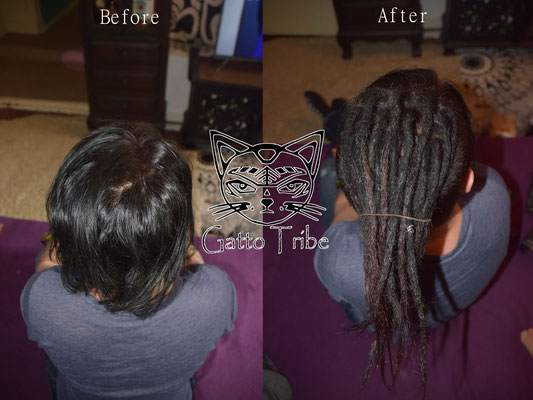 Dreaderstellung, neue Dreads in Berlin 011 (25 Dreads mit Extensions)