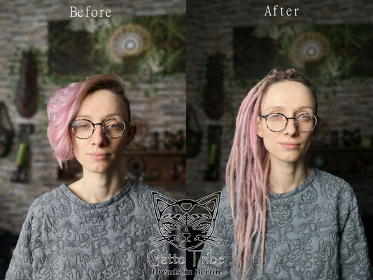 Dreaderstellung, neue Dreads in Berlin 070 ( 43 Dreads mit Extensions)