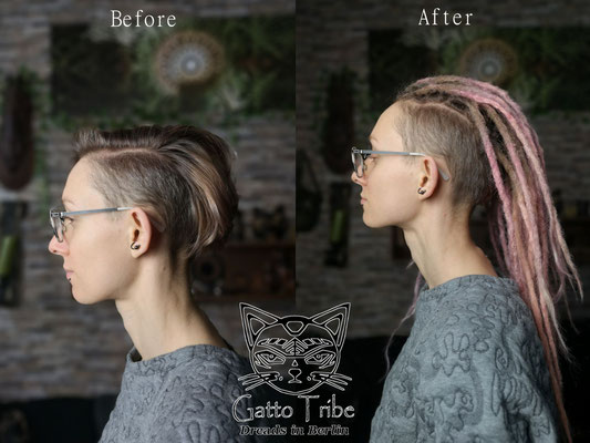 Dreaderstellung, neue Dreads in Berlin 068 ( 43 Dreads mit Extensions)