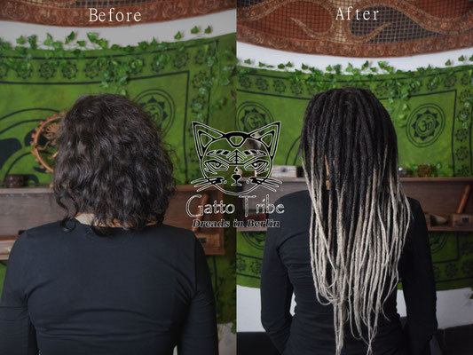 Dreaderstellung, neue Dreads in Berlin 031 ( 48 Dreads mit Extensions)