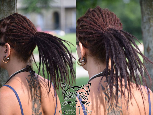 Dreaderstellung, neue Dreads in Berlin 033 (45 Dreads ohne Extensions)