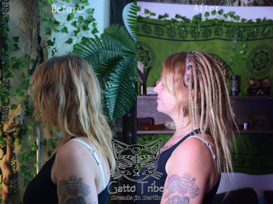Dreaderstellung, neue Dreads in Berlin 035 ( 54 Dreads mit Extensions)