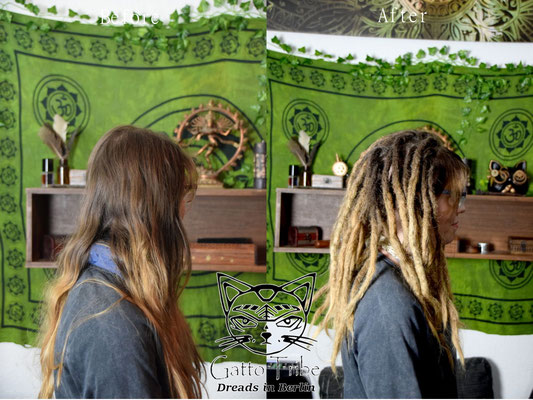 Dreaderstellung, neue Dreads in Berlin 045 ( 43 Dreads mit Extensions)